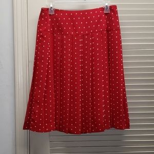 Nine & Company Red Polka Dot Skirt